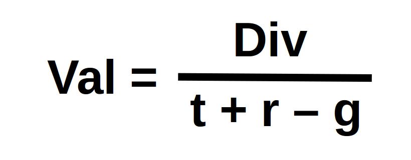 Val = Div / (t + r – g)